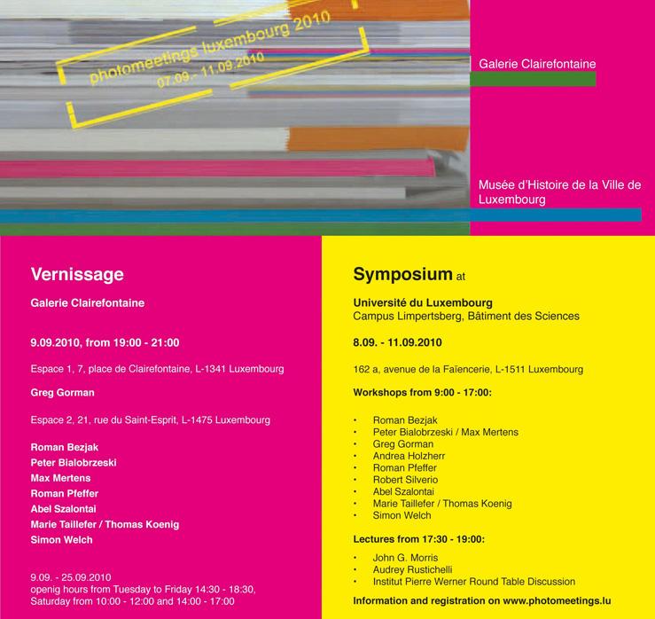 Einladung photomeeting  Luxembourg 2010